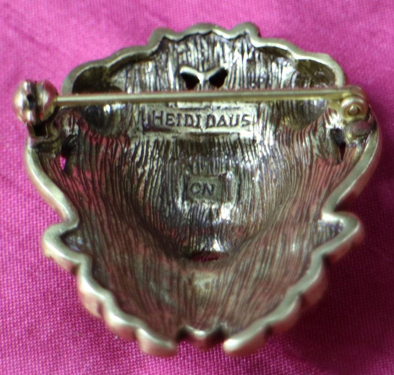 Heidi Daus Vintage Lion Head Pin Brooch