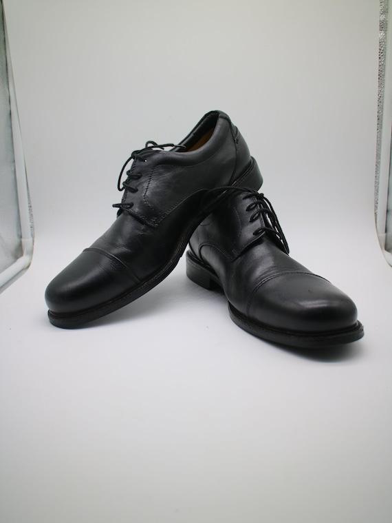 Vintage 90s Men's Florsheim Black Dress Shoes Size 9 EEE