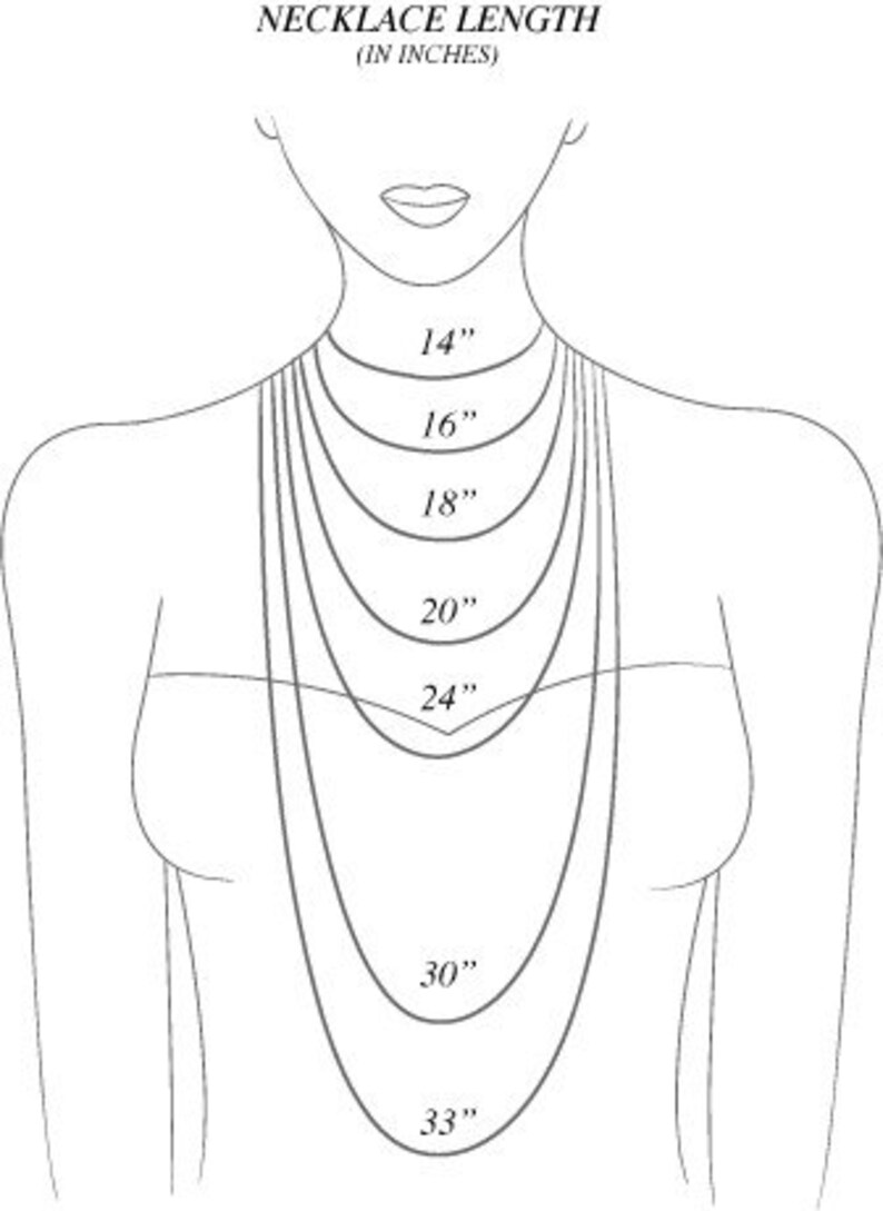 7068e08514622 Necklace length chart