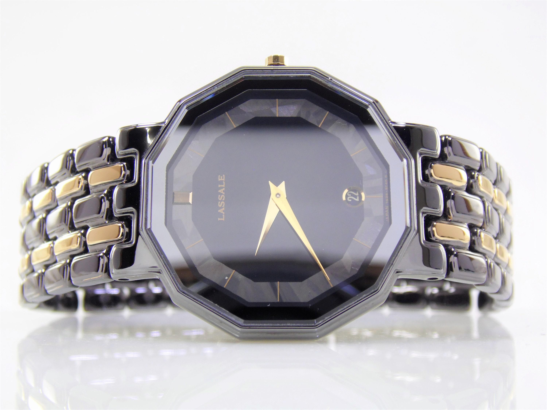 3d092ccf374 Rare Vintage Mens Womens Unisex Black Ion   Gold Authentic