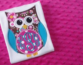 Owl Monogram Appliqued Shirt