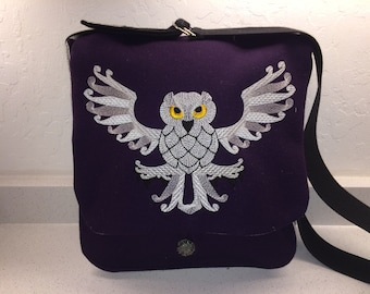 Celtic Style Dragon Haversack wool and silk