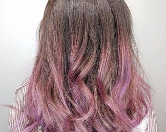 Items Similar To Blonde Pink Ombre Blonde Hair Extensions With A