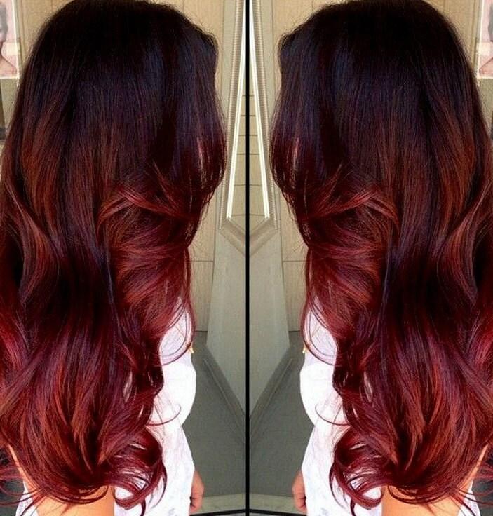 Clip In Virgin Human Hair Extensions Dark Brown 2 Auburn Etsy