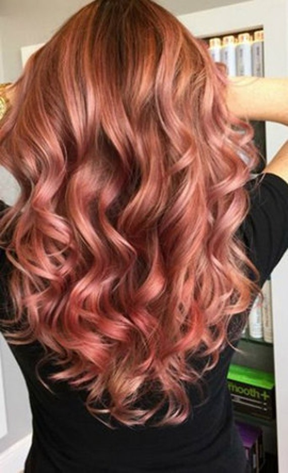 Clip In Remy Human Hair Extensions 1b Natural Black And Rose Etsy
