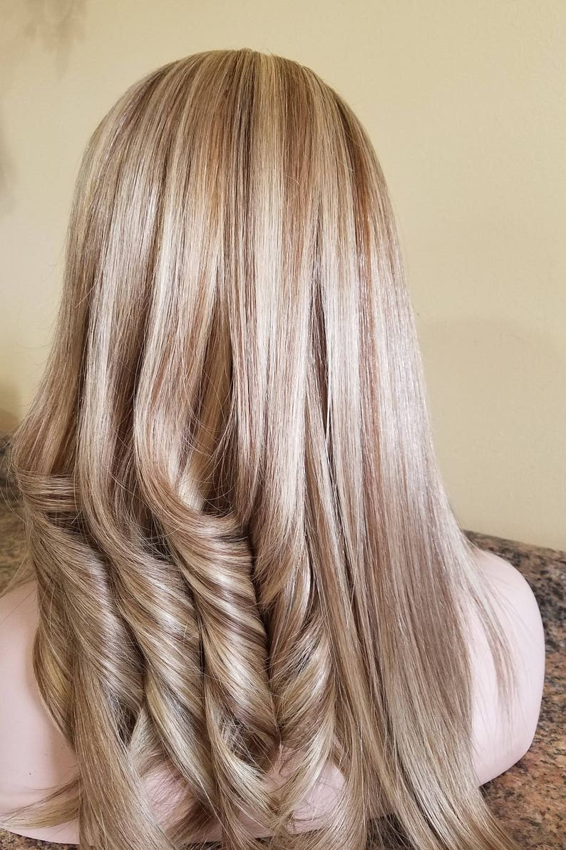 22ae565762e Clip in European Human Hair Extensions Blonde with low lights   Etsy