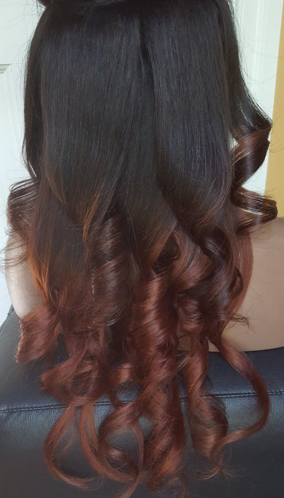 Clip In Human Hair Extensions 1b Natural Black And Dark Etsy