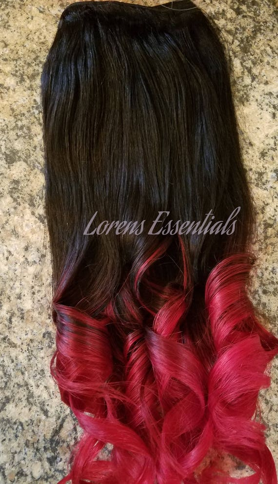 Clip In Or Haloflip In Remy Human Hair Extensions 1b Natural Etsy