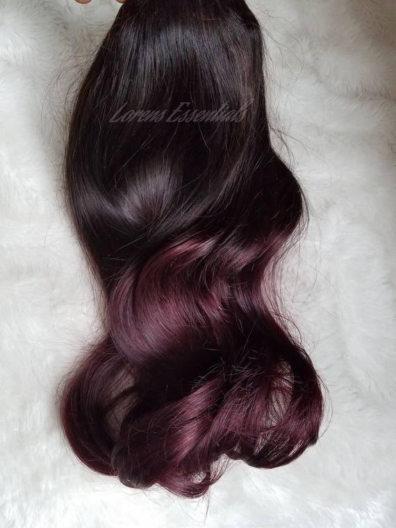 Clip In Halo Virgin Human Hair Extensions Dark Brown Into Etsy