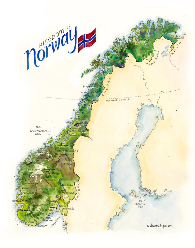 Norway Map Watercolor Illustration Scandinavian Map Norske Norse Oslo on europe map, italy map, greece map, britain map, scotland map, austria map, france map, united kingdom map, danube river map, africa map, netherlands map, mediterranean map, portugal map, germany map, tourist map, sweden map, iberian peninsula map, iceland map, switzerland map, scandinavian peninsula map, rhine river map, ural mountains map, england map, america map, ireland map, turkey map, denmark map, strait of gibraltar map, belgium map, norway map, finland map, spain map, uk map, viking map, nordic countries map, the netherlands map,