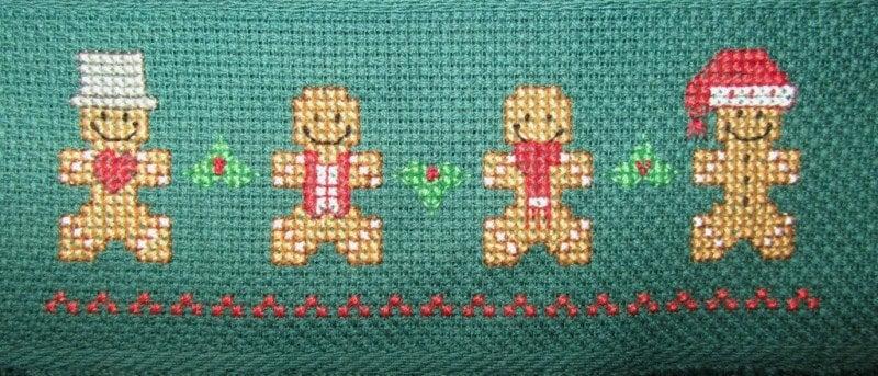 Gingerbread Men Cross Stitch Pattern / Quick To Stitch