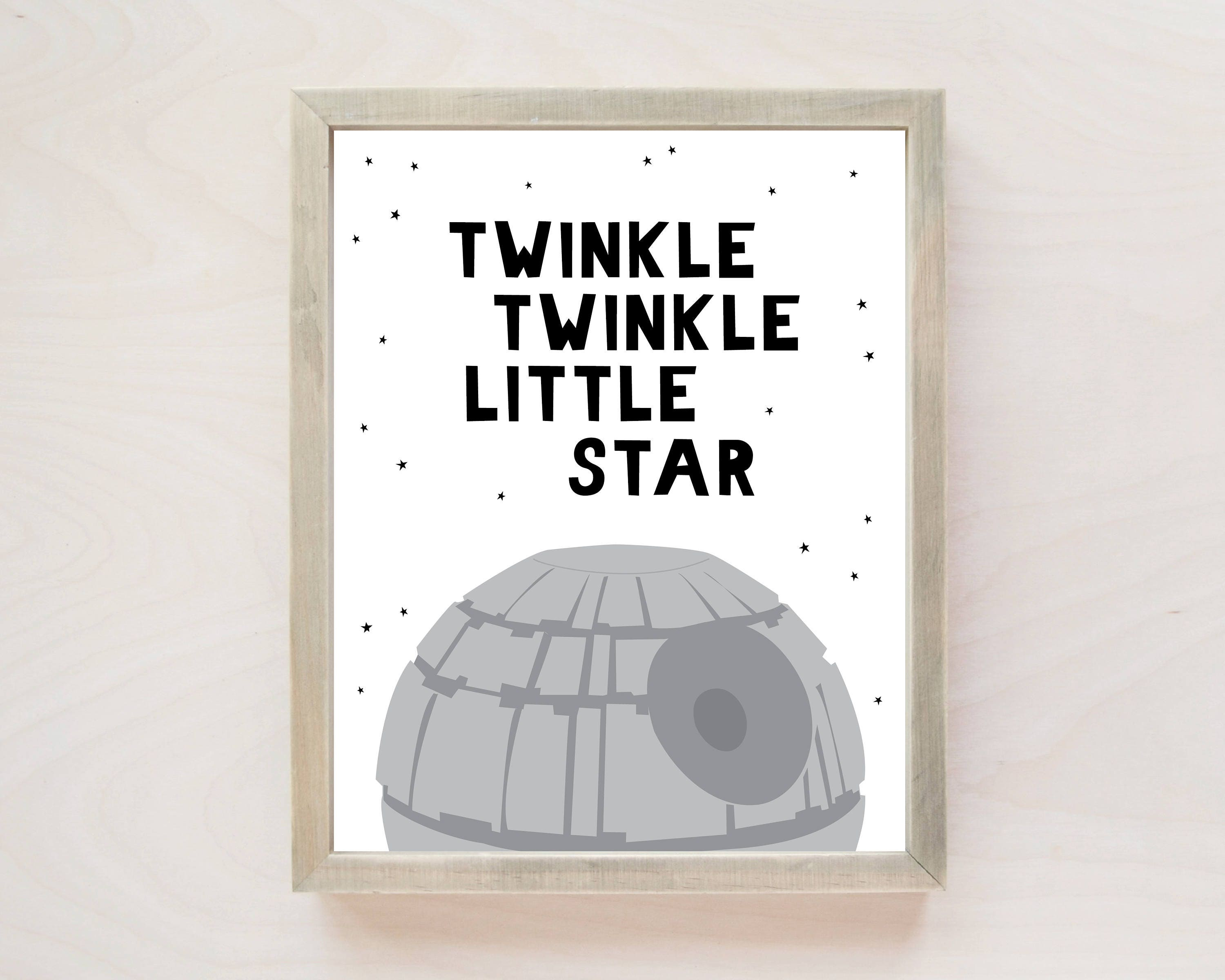 PRINTABLE Nursery Wall Art Star Wars Nursery Decor Star ...