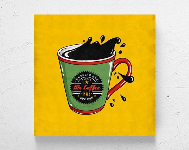 Moderne Kunst Keuken : Retro keuken kunst koffie cup kunst aan de muur koffie etsy