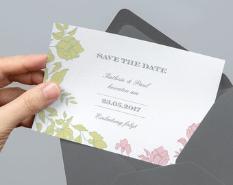 Printable Save the Date card | Rosé | PDF