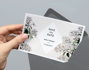 Printable Save the Date Card | Vintage | PDF