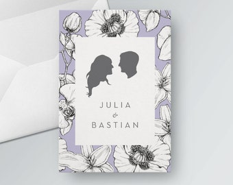 Wedding card to print out. PDF
