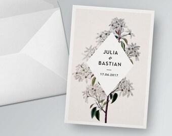 Wedding card to print out. Vintage | PDF