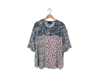 L/XL Patchwork Blouse, One-of-a-kind