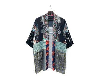 Statement Geometric Kimono Cover-Up - Perfect Day Kimono / XS-S