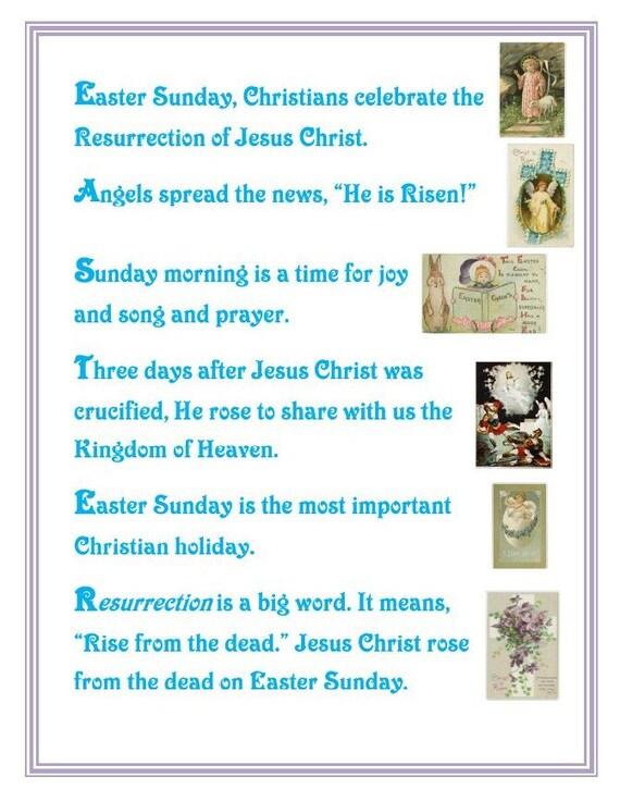 Items similar to Religious Easter Letter for Little Kids ...