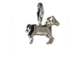 Tibetan Silver prancing HORSE//PONY//PET Keyring brand new free P/&P