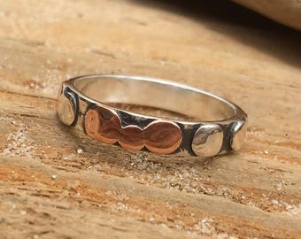 Sterling Silver and Copper Ring