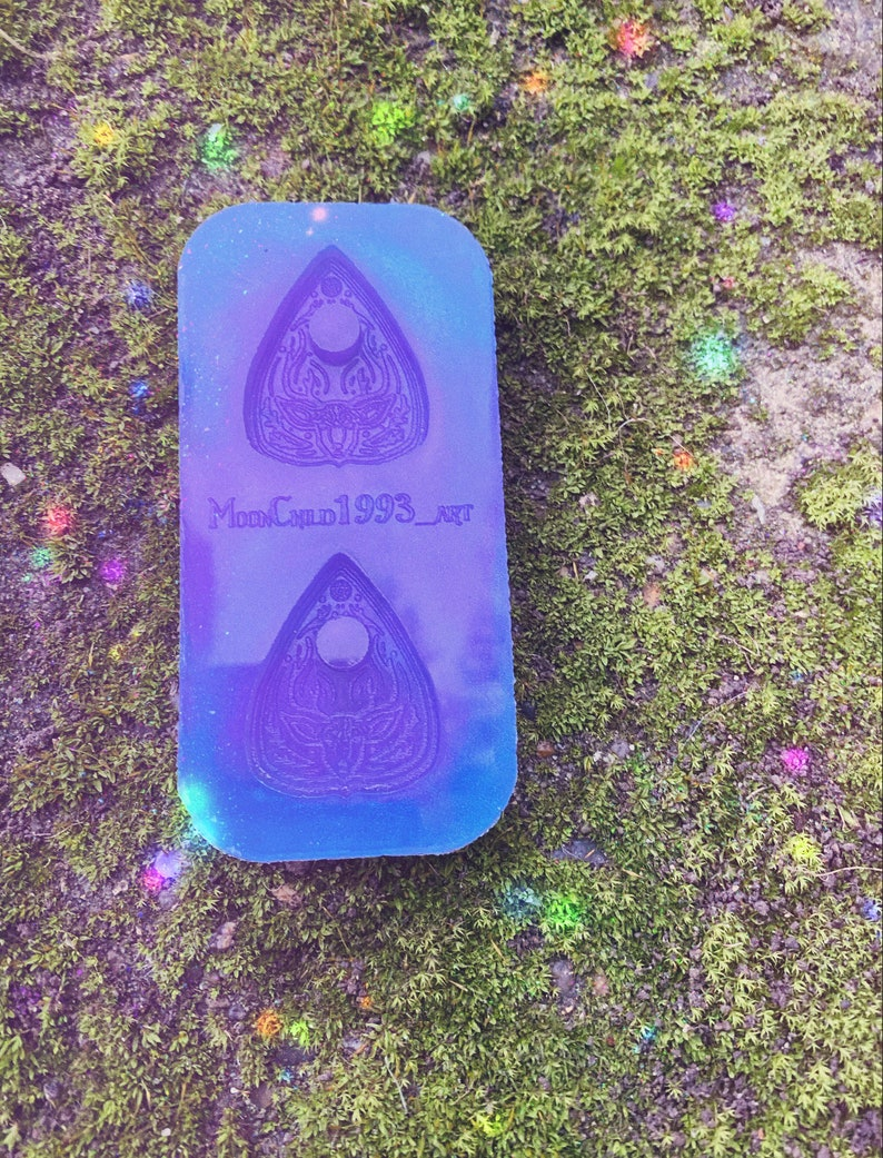 Mini mythical deer double planchette silicone mold for resin