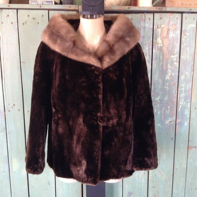 d78f50e59 Vintage Womens 50s 60s Sheared beaver mink collar fur coat | Etsy