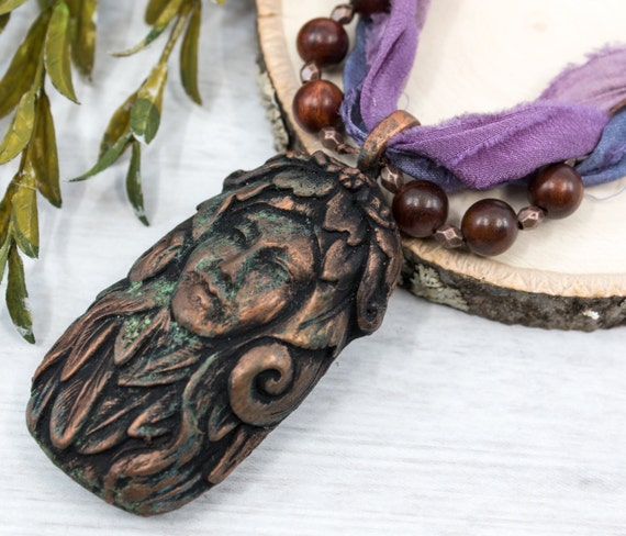 Totem Ram Necklace Sheep Goddess Necklace Pagan Jewelry  Pagan Necklace Wiccan Jewelry Witchcraft Talisman Wiccan Necklace OOAK Last One