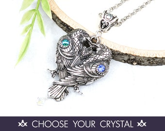 Raven Necklace Crow Necklace Wiccan Jewelry / Pagan Jewelry Raven Pendant / Wiccan Necklace Witchy Jewelry / Pagan Necklace Odin Morrigan