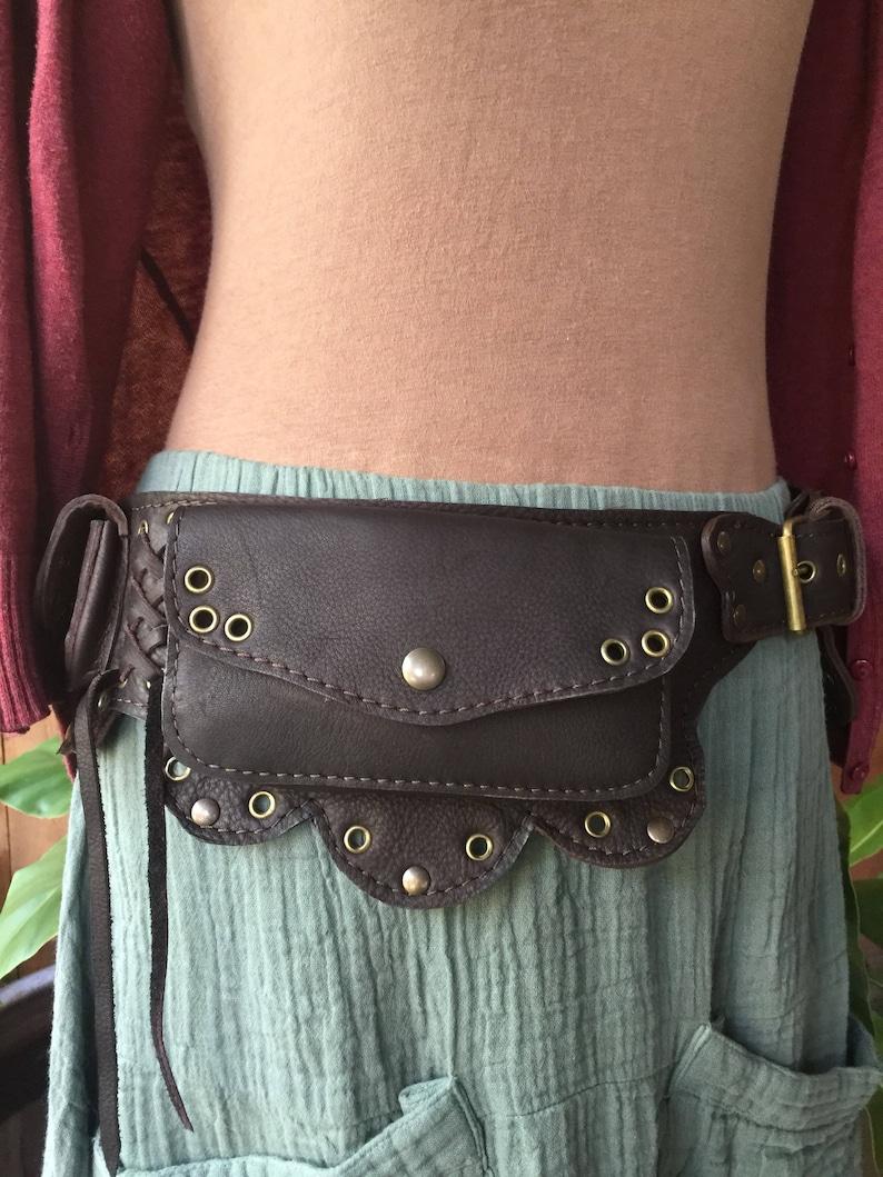 Festival Hip Bag iPhone Pocket Travel Belt Steampunk Belt Bag Waist Bag The Lotus Leather Utility Belt Fanny Pack Gift For Her