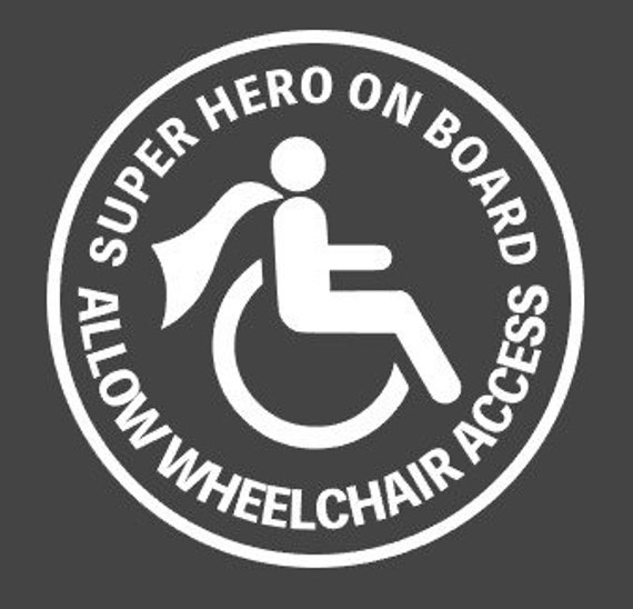 Superhero on Board Safety Disabled Badge Holder Sticker Windscreen stickers