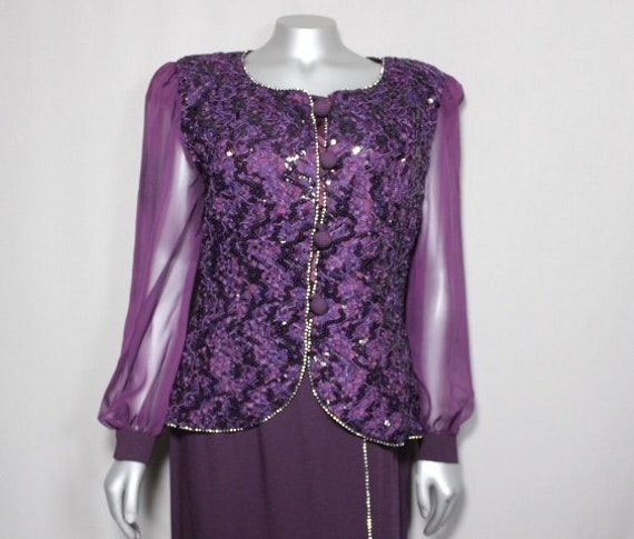 Deep Purple 2pc Outfit Skirt and Top