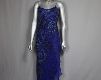 SALE was 75.00 now 55.00 Gypsy Blue Beaded Evening Gown Bridesmaids Parties Formal Functions 2017 Proms