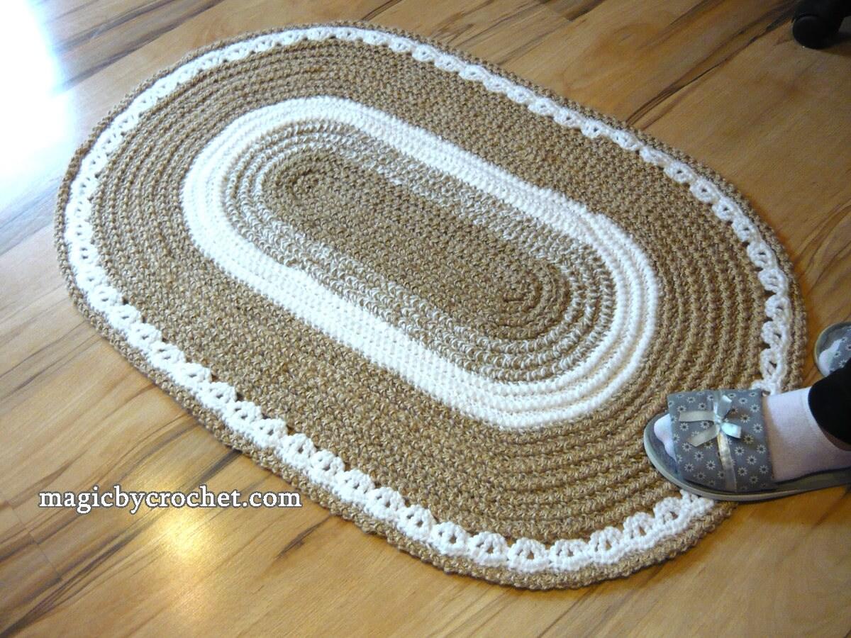Oval Rug Braided Rug Jute Rug 2x3 Ft Rug Crochet Rug Etsy