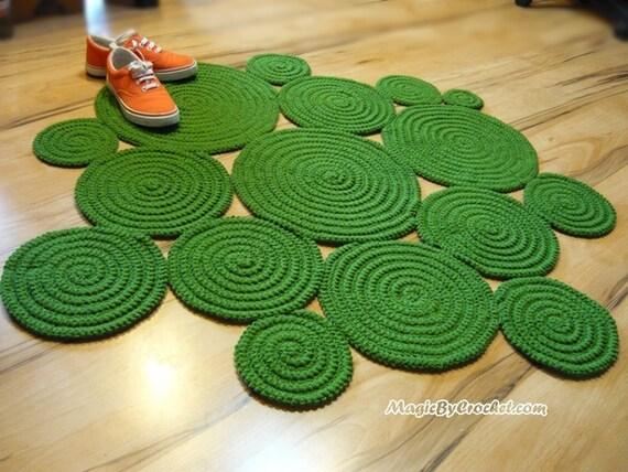 free form rug  Accent Rug, Free-form Rug, Braided Crochet Rug, Custom color Rug, Boho Rug,  no.8