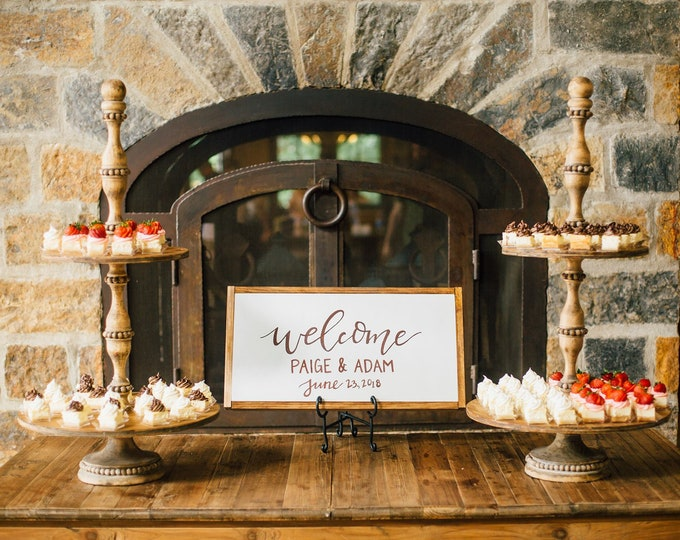 Personalized Wedding Ceremony Sign