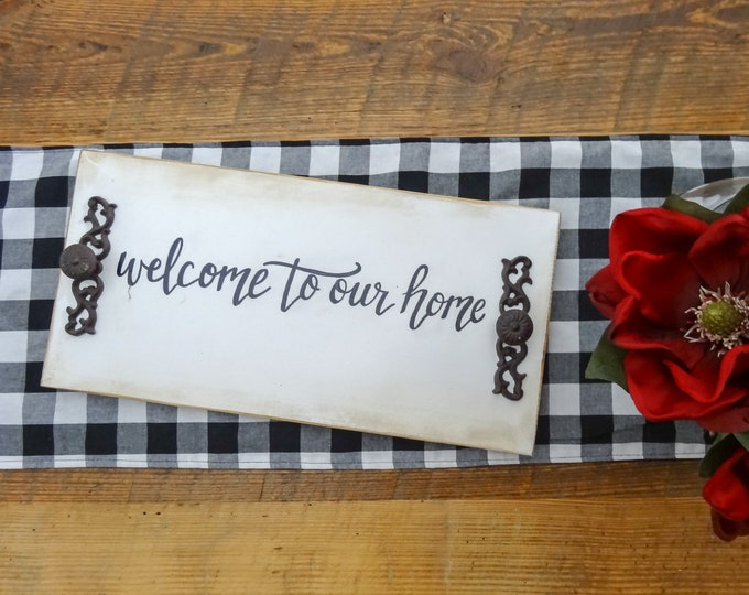 Personalized Decorative Tray - Welcome to Our Home