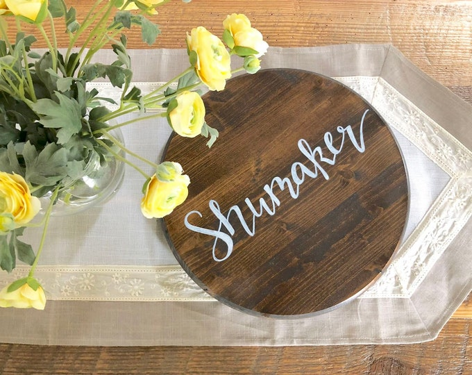 Personalized Last Name Lazy Susan Tray