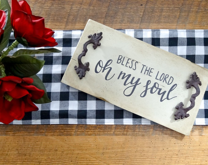 Bless the Lord, Oh My Soul - Handcrafted Wood Decorative Serving Tray