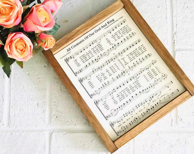 Hymn Wall Art Sheet Music/ Music Teacher Gift