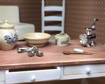 Awe Inspiring Dollhouse Work Table Etsy Creativecarmelina Interior Chair Design Creativecarmelinacom