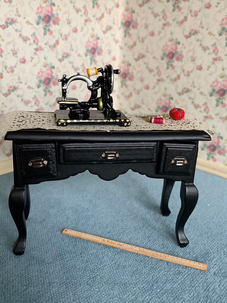 Sewing Desk In One Inch Scale For A Dollhouse Ladies Dress Etsy
