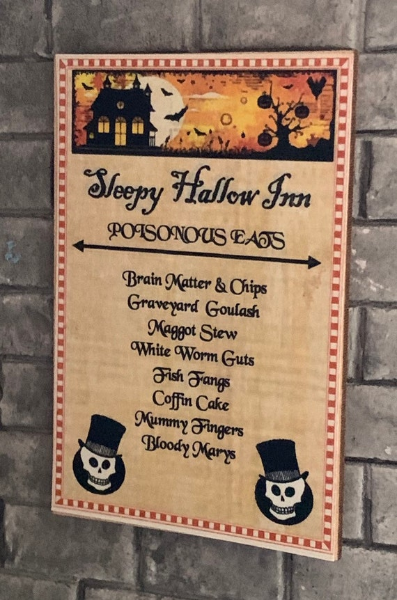 DOLLHOUSE MINIATURE ~ HALLOWEEN ~ SLEEPY HOLLOW INN MENU