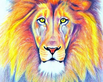 Lion FINE ART PRINT 'Strength Within Me' ~ A3 * Limited Edition * by Tanya Cole