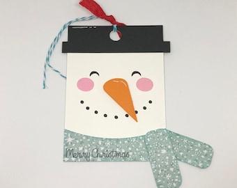 Snowman Gift Tag, Christmas Tag, Gift Tag, Snowman, Handmade Gift Tags, Handmade, Christmas Tag, Xmas Tag, Holiday Tag, Christmas Gift