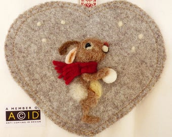 Private listing for Three hearts, Snowball  bunny, Labradoodle and Corgi