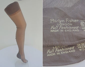0ebde02fbc2 Vintage 1940s WW2 Era CC41 Ladies Stockings - Martyn Fisher Utility Mark  Seamed