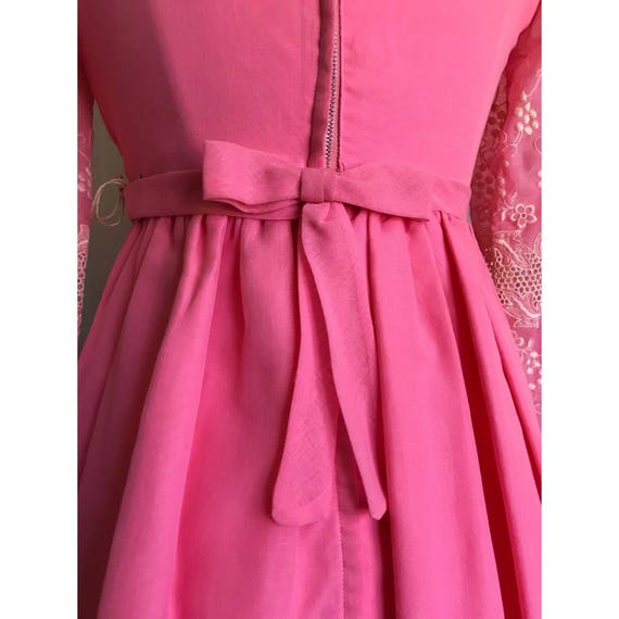1960s Pink Embroidered Dress // maxi dress // flo… - image 2