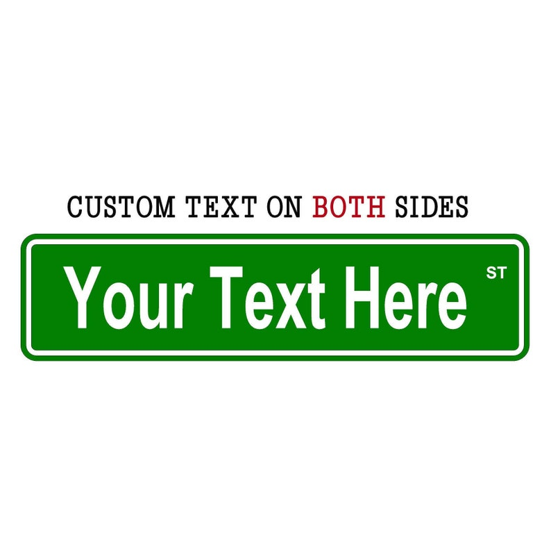 Personalized Street Signs >> 2 Sided Custom Street Sign Custom Signs Personalized Street Sign 6 X 24 Aluminum Sign Personalized Decor Fathers Day Gift